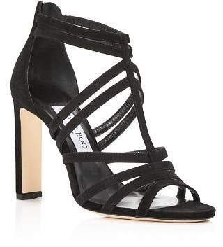 ac34a8045fd6 Jimmy Choo Women s Selina 100 Strappy Suede High-Heel Sandals   JimmyChooHeels