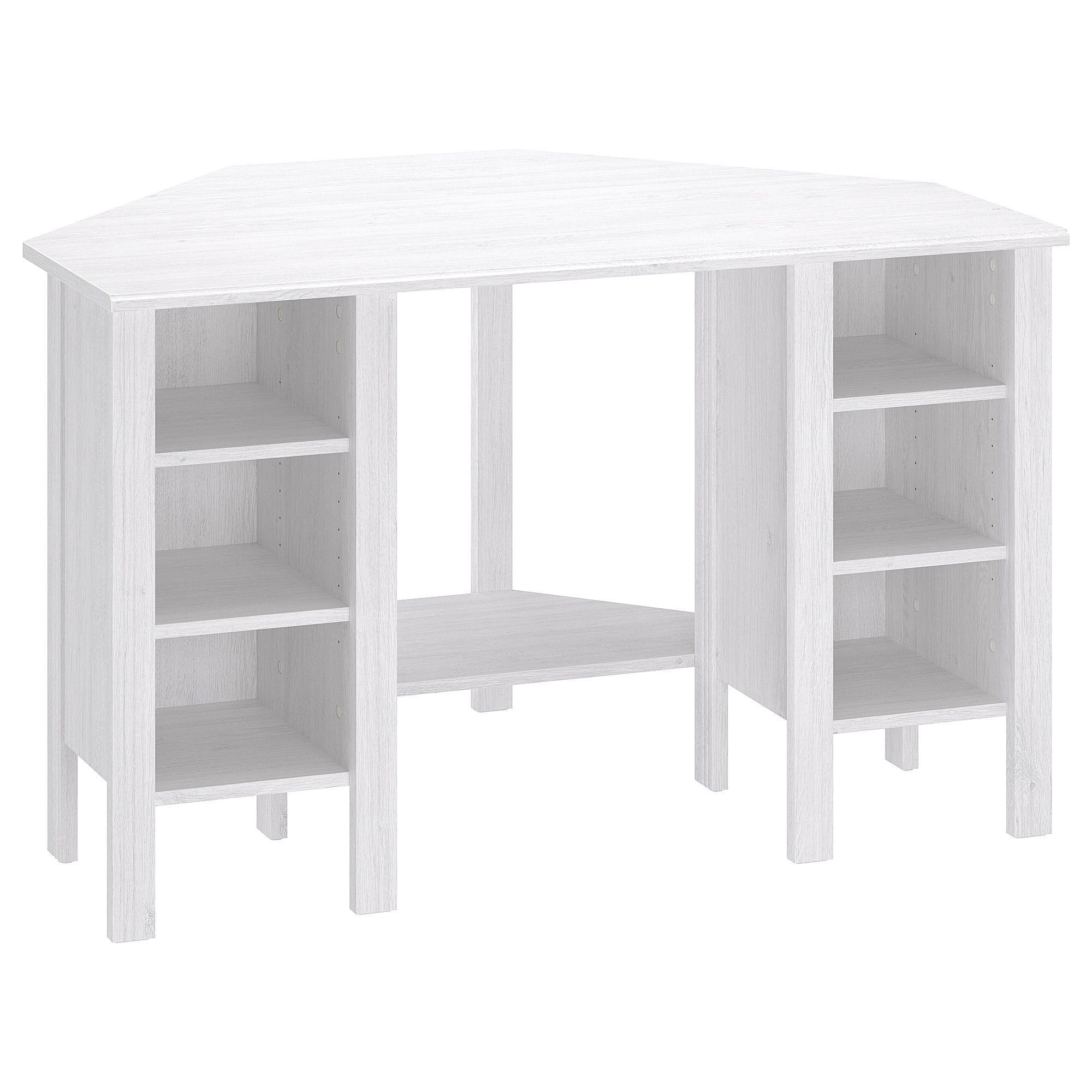 Brusali Corner Desk White 120x73 Cm White Desks Ikea Desk