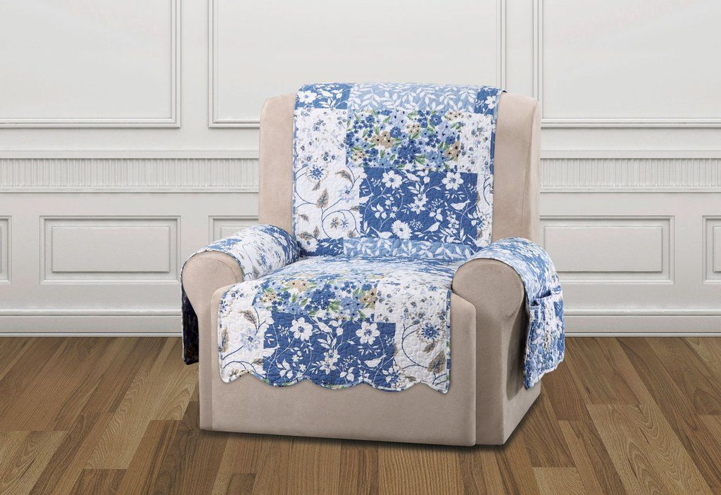 Heirloom Quilted Recliner Furniture Cover English Rose