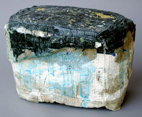 """Jonathan Mess  Landfill No.14, 2008.Various clays, glazes and stains, 80% recycled;   10"""" x 14"""" x 10"""""""