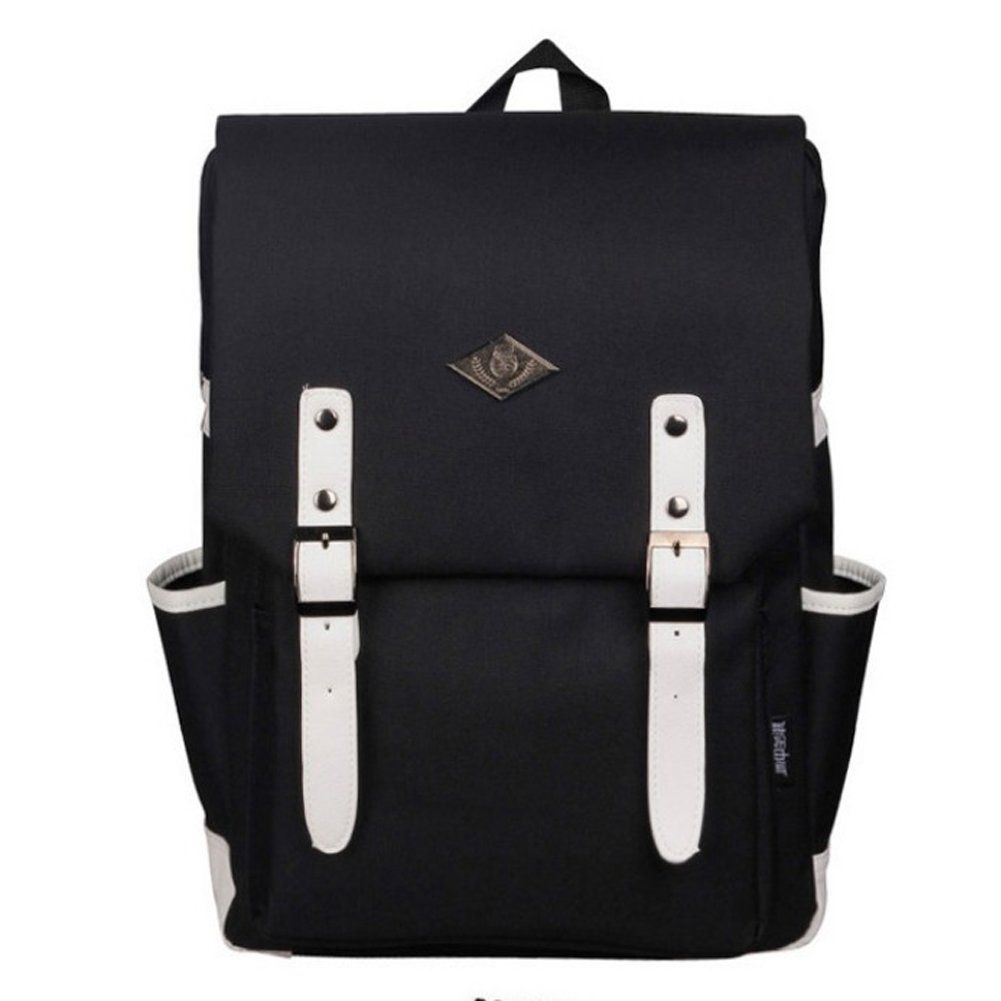 Diy laptop backpack - Yiyinoe Korean Style Unisex Water Resistant Oxford Laptop Backpack School Daypack With Laptop Compartment College Students
