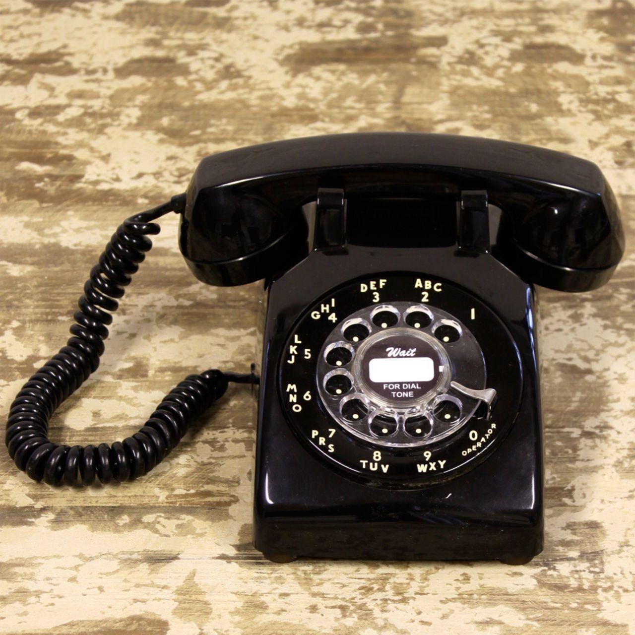 A telephone made of polyoxybenzylmethylenglycolanhydride