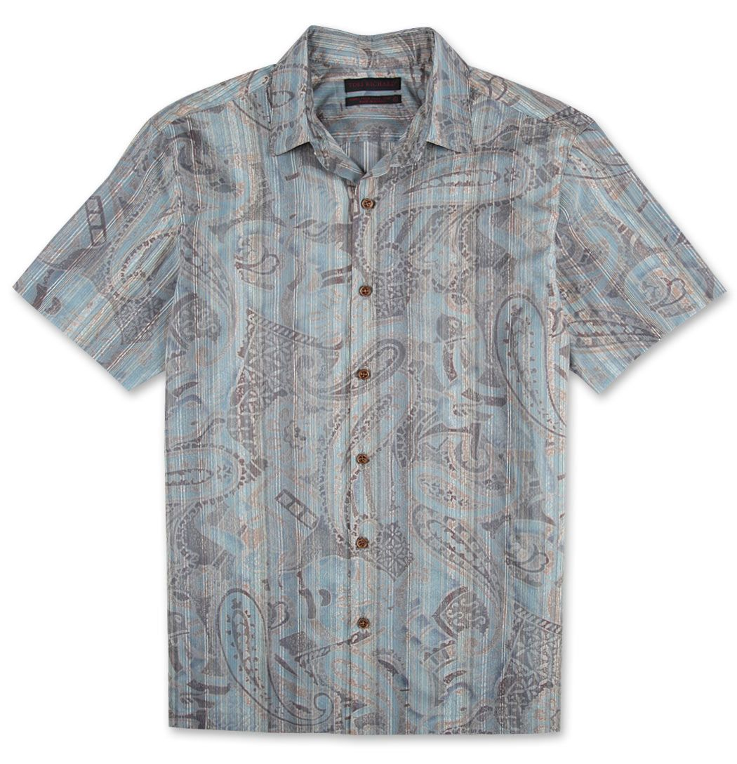 Fresco Paisley - Fabric spun, woven & printed in Como, Italy. Handcrafted in Hawaii, USA. $175