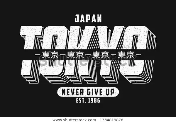 Tokyo Japan Typography Graphics Slogan Tshirt Stock Vector Royalty Free 1334819876 Tipografi Desain Grafis Logo Tipografi Poster Tipografi