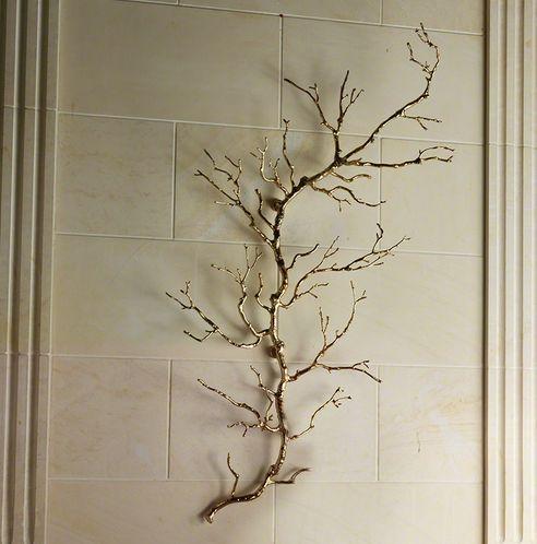 Gold Twig Branch Wall Art Metal Tree Wall Art Tree Wall Art Diy Metal Tree
