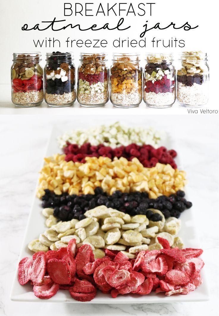 simplify breakfasts with make ahead oatmeal jars using freeze dried fruit recipes breakfast. Black Bedroom Furniture Sets. Home Design Ideas