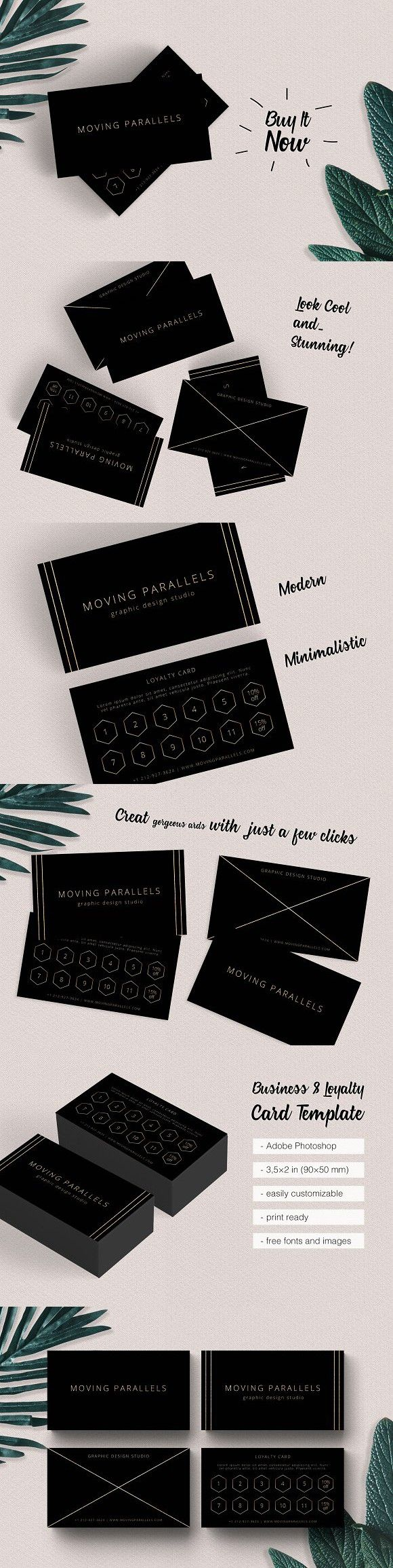 Black Gold Business Loyalty Cards Loyalty Cards Visiting Card - Business loyalty card template