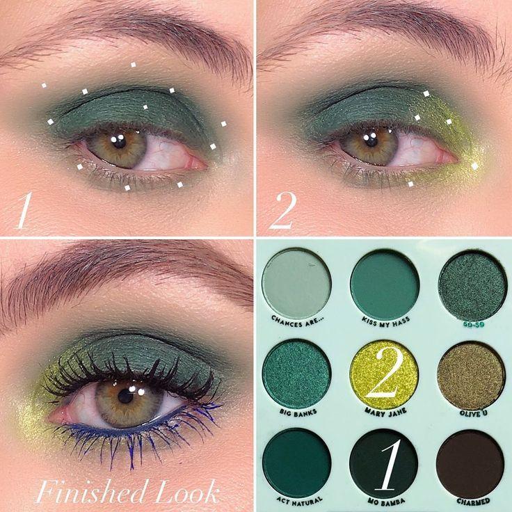 bekommst du in nur einer Woche schlanke Oberschenkel! Ich habe es ausprobiert und bin total begeistert @colourpopcosmetics -Just My Luck Eyeshadow Palette  1️⃣Mo Bamba- Apply to t... -