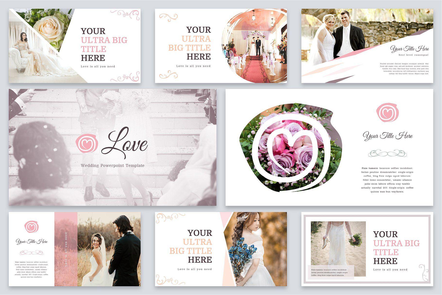 Love Wedding Powerpoint Template Powerpoint Templates