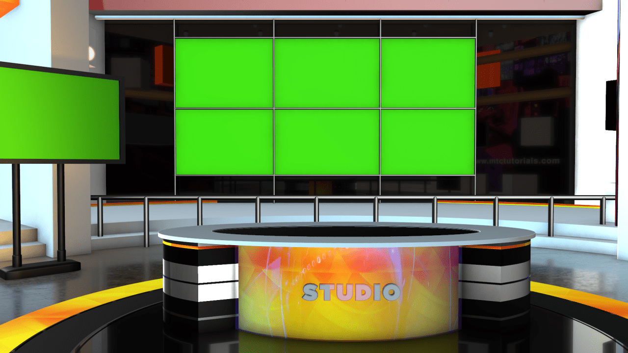 3d News Room 4k Images Free Download Mtc Tutorials News Studio Free Green Screen Studio Background Images