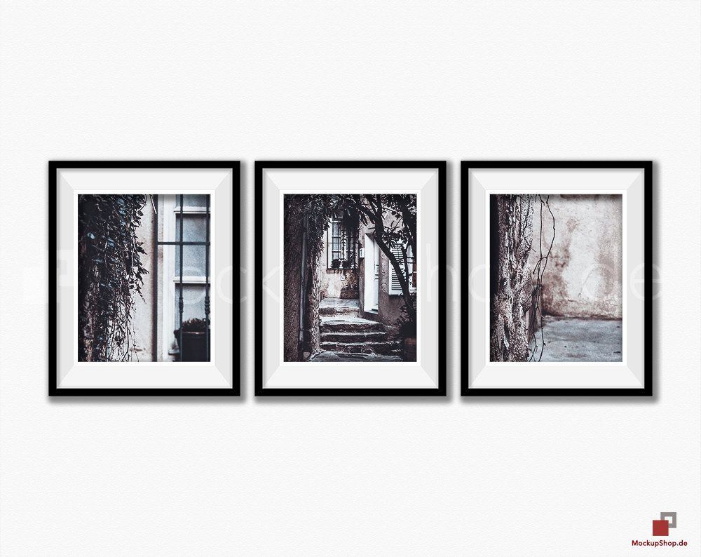 BLACK FRAME MOCKUP 8x10, Set of 3, Frame mockup, Empty Frame, Styled ...