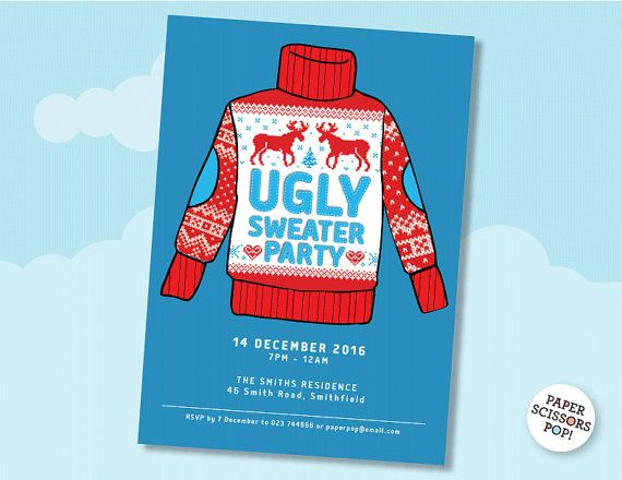 Ugly sweater party invitation template editable printable ugly sweater party invitation template editable printable christmas party holiday party invite christmas party diy email pronofoot35fo Choice Image