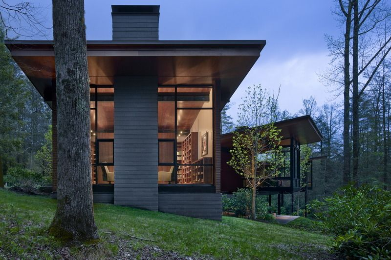 Modern Architecture North Carolina highlands house highland, north carolina olson kundig architects