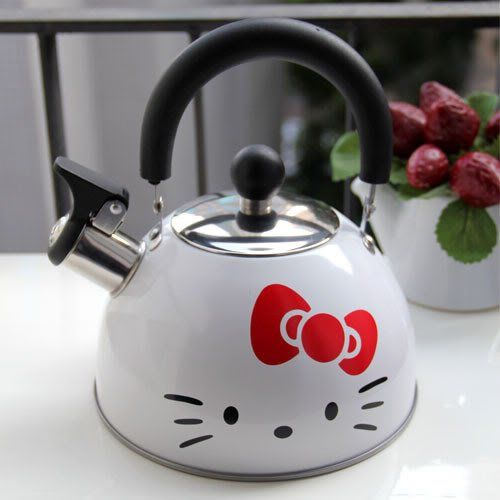 Hello Kitty Stainless Steel Kettle Water Jug Boiler Pot White 1pc newnews, HELLO KITTY to buy just click on amazon here http://www.amazon.com/dp/B00AQGMDDU/ref=cm_sw_r_pi_dp_afCDsb0C11R0ESCF