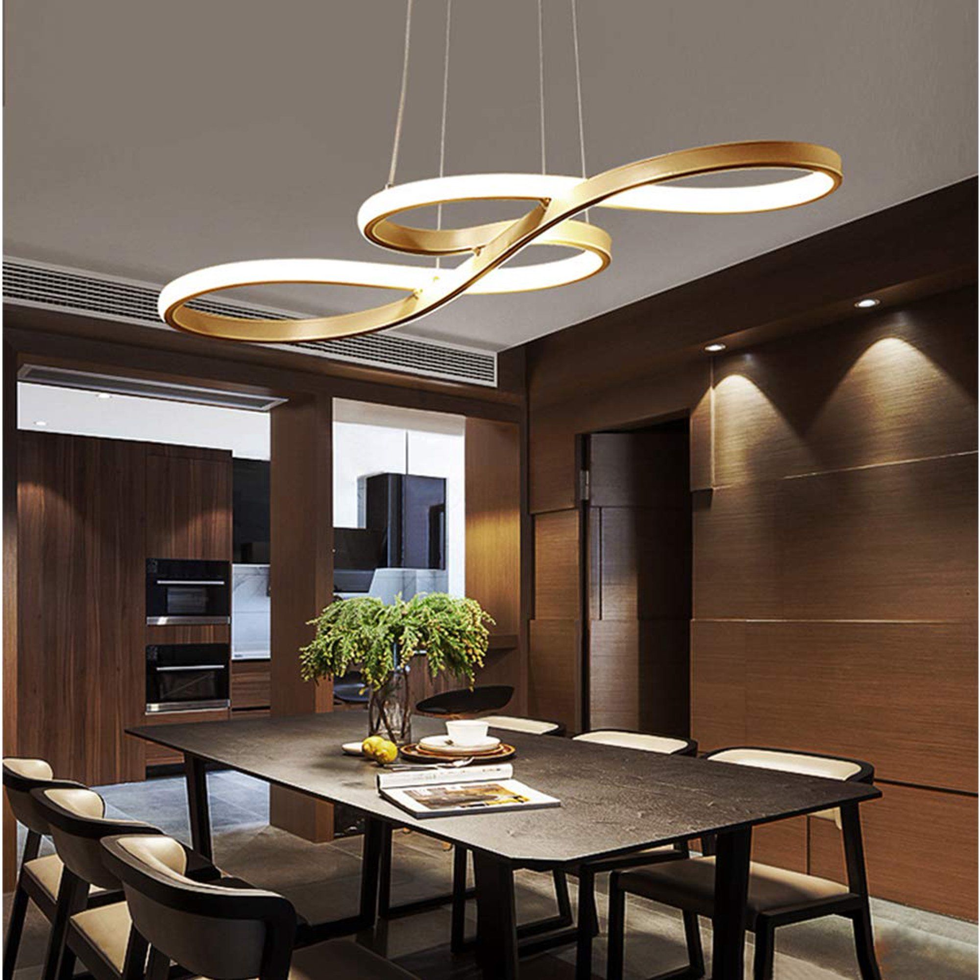 Modern Led Pendant Lighting, Contemporary Dining Room Ceiling Light Fixtures