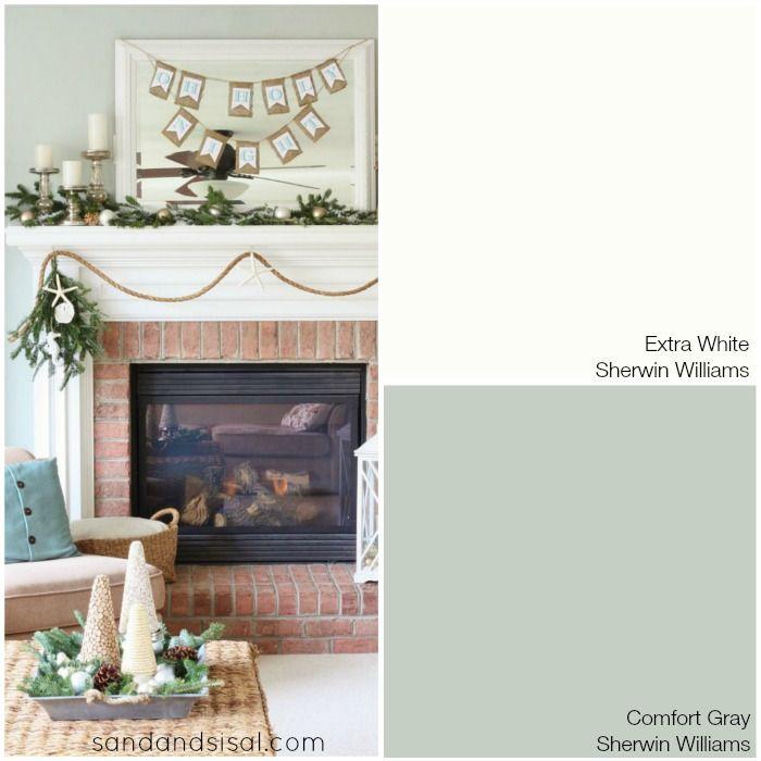 Escape Gray Living Room: Coastal Christmas W/BeachCottageLife