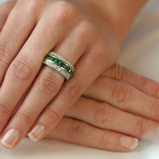 The Emerald Hollywood Fantasy Eternity Ring Only 12995 Fantasy