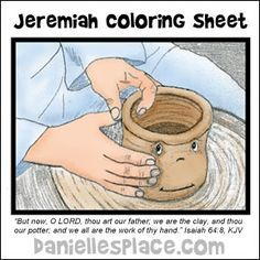 Potter And The Clay Coloring Sheet For Jeremiah Bibl Bible Crafts