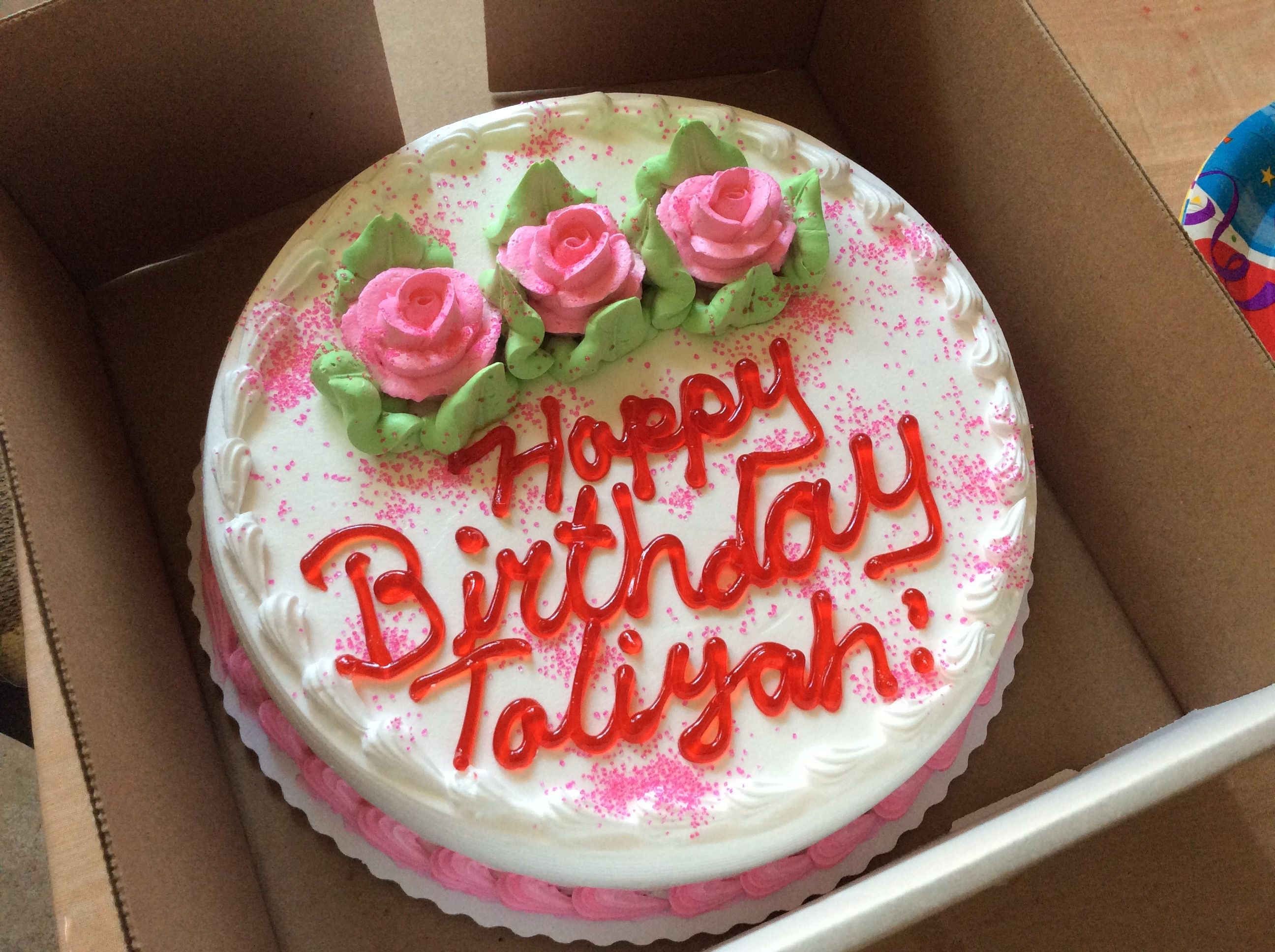 Valencia Bakery Birthday Cake In Bronx NY