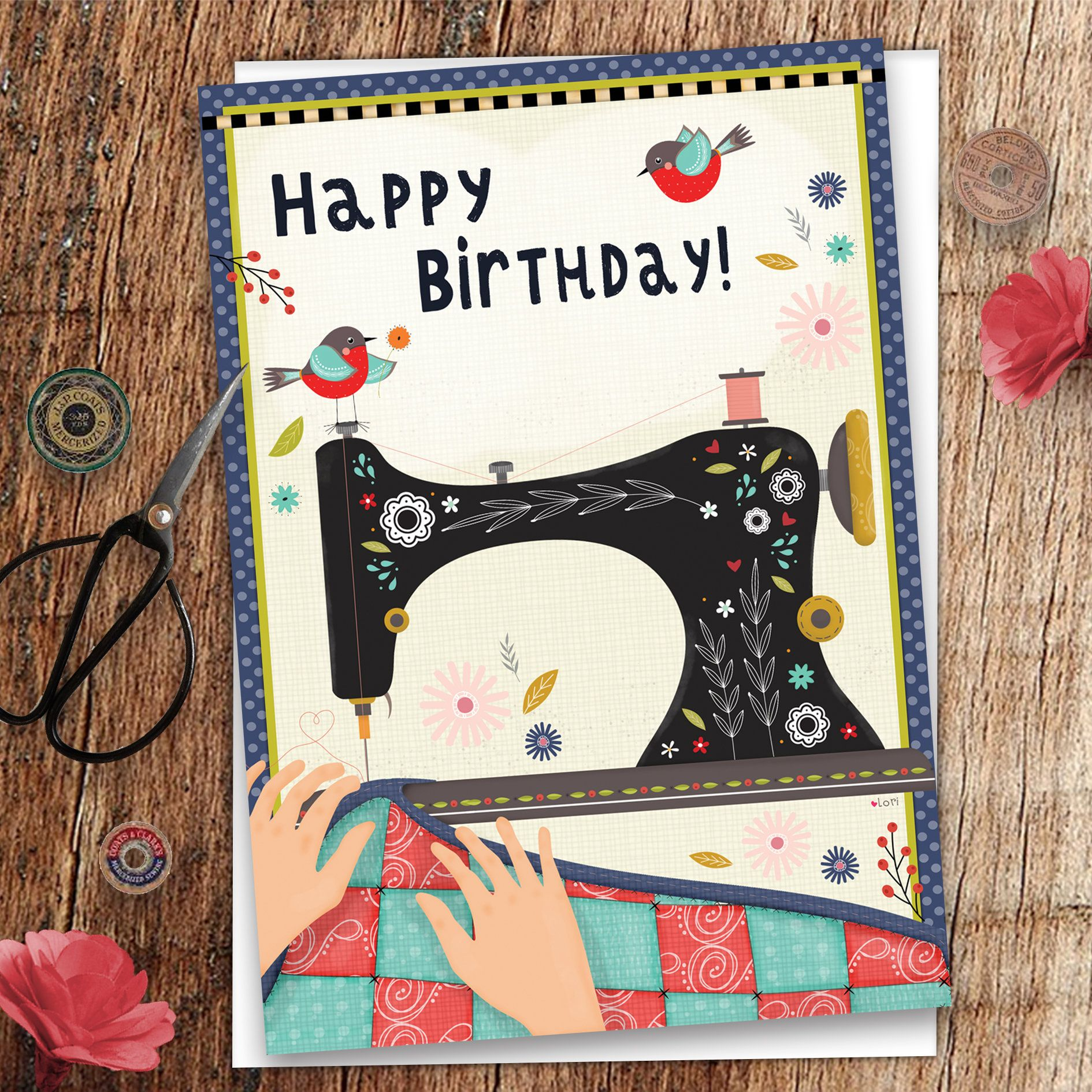 Quilt Birthday Card Quilt Greeting Card Sewing Birthday  Etsy in