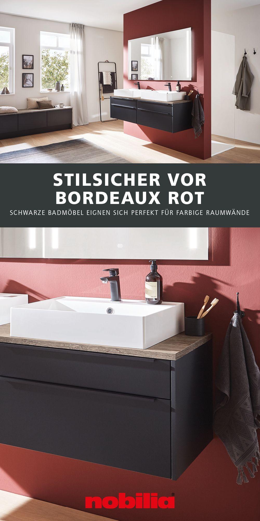 Moderne Badmöbel vor Bordeaux Rot   Moderne badmöbel, Ästhetisches ...