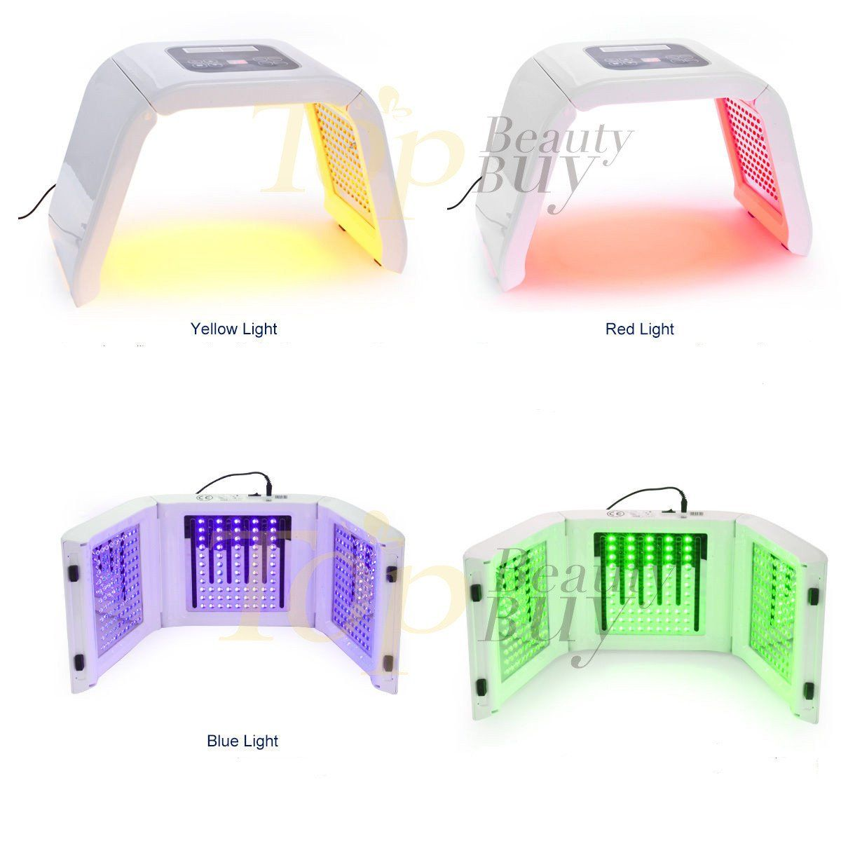 Pdt Red Blue Green Yellow Led Light Therapy Machine In