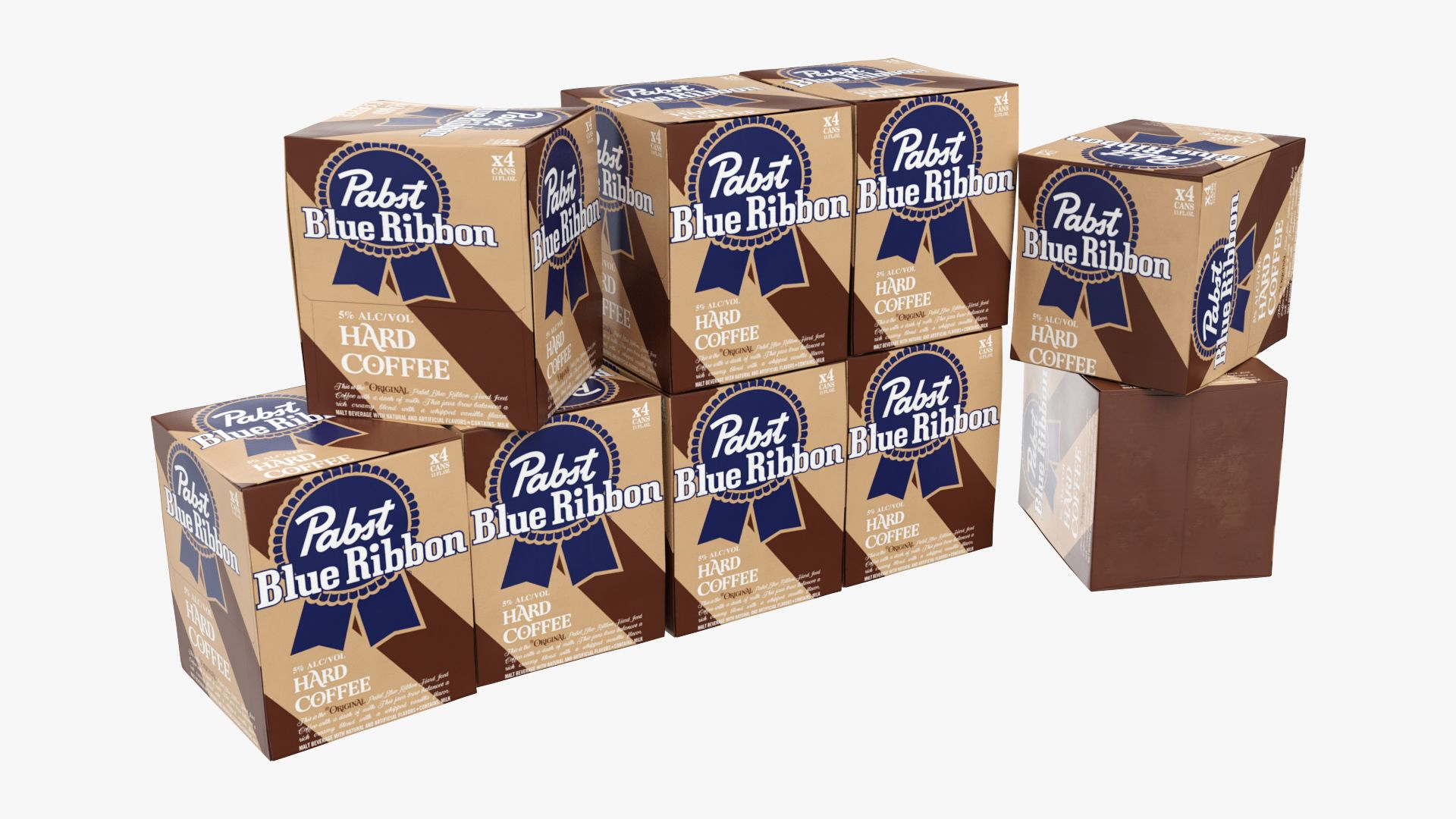 PBR 3D Model Available Turbosquid Pabst blue ribbon