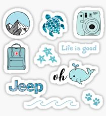 Blue Aesthetic Pack Stickers Cute Stickers Girl Stickers Cool Stickers