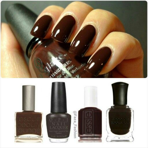 2014-15 Fall/Winter Nail color Trends: Dark Chocolate موضة