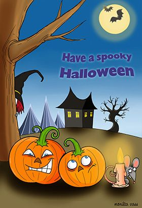 Spooky Halloween Halloween Card Free Greetings Island Halloween Greeting Card Spooky Halloween Halloween Cards