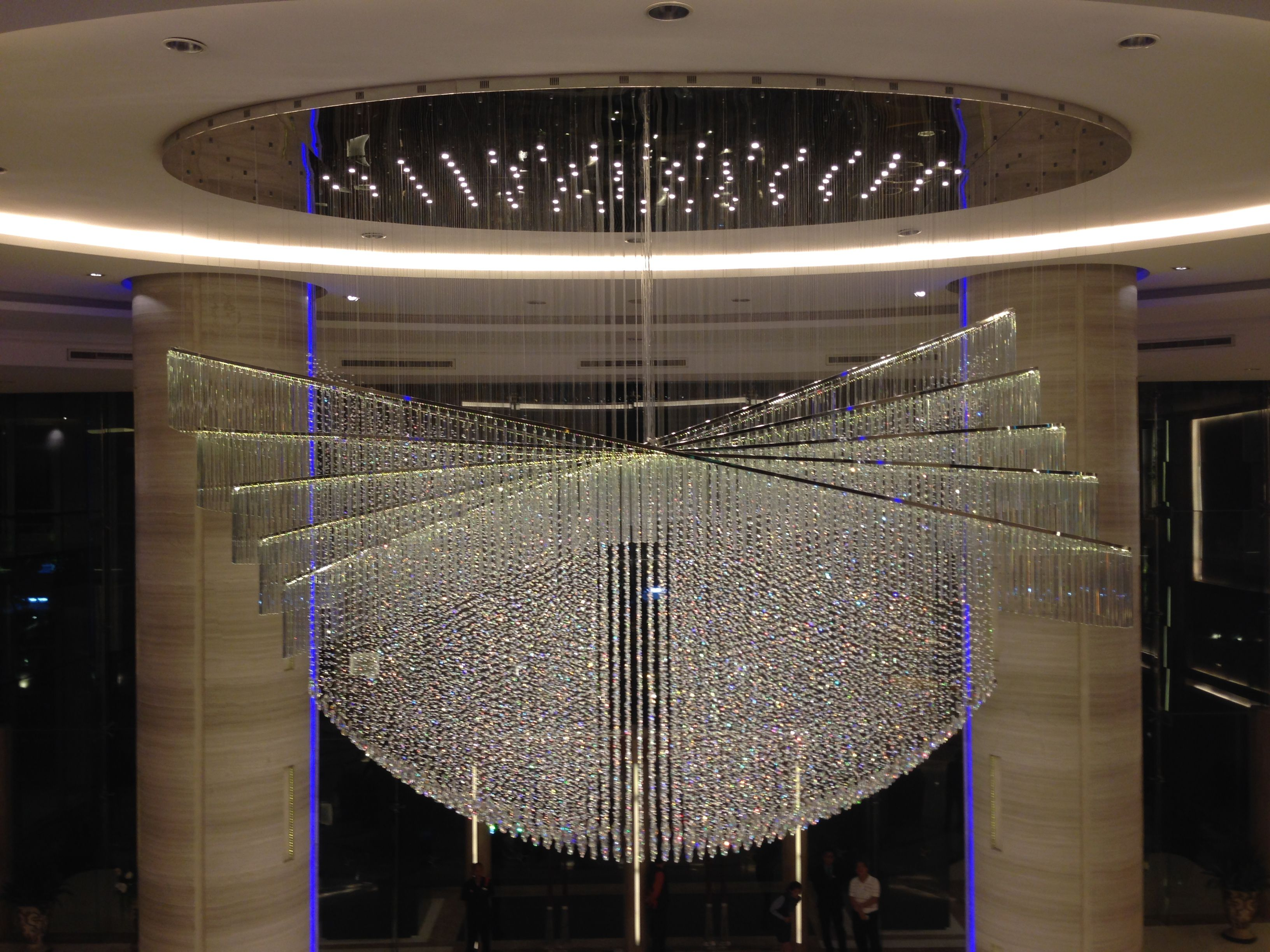 The Grand Chandelier of GrandFourWings Srinakarin BKK, This chandelier was made a year ago