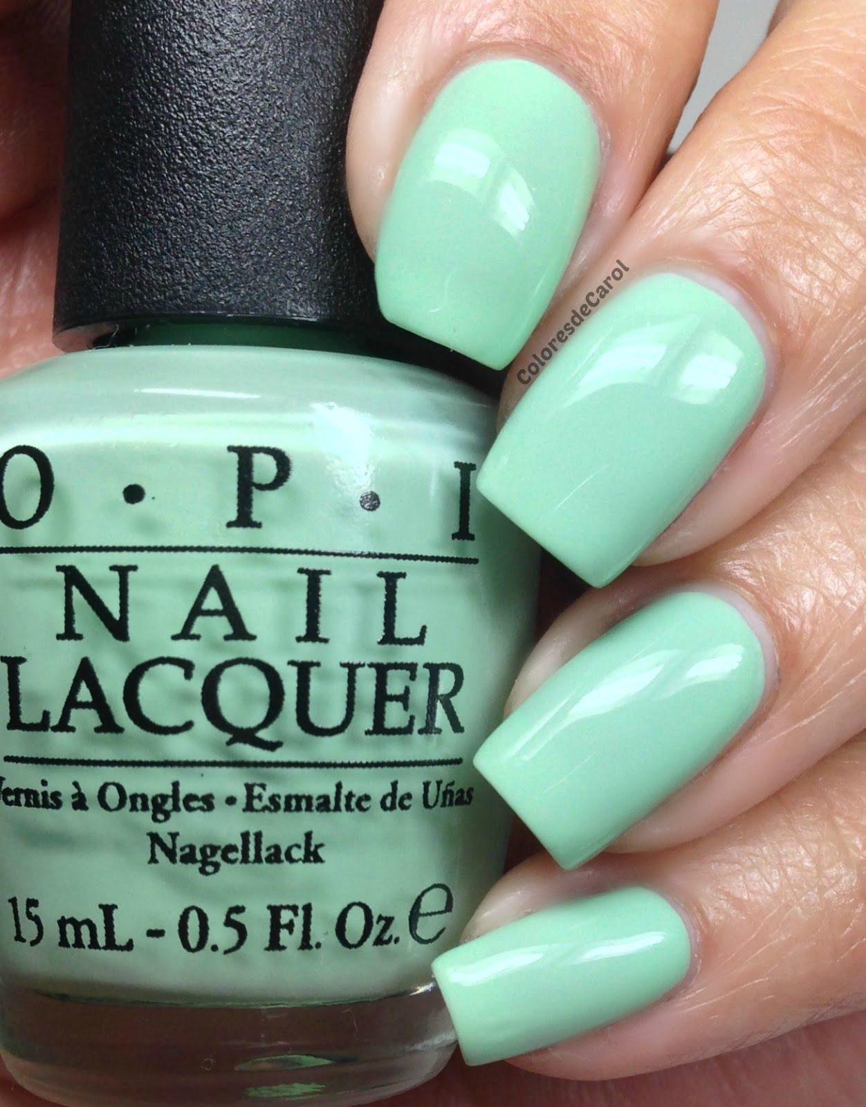 OPI Hello, Flamingo! | Mint green nail polish, Mint green nails and ...