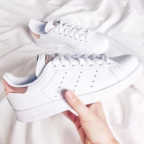 2017 Adidas Stan Smith Rose Gold Blanche | Chaussure
