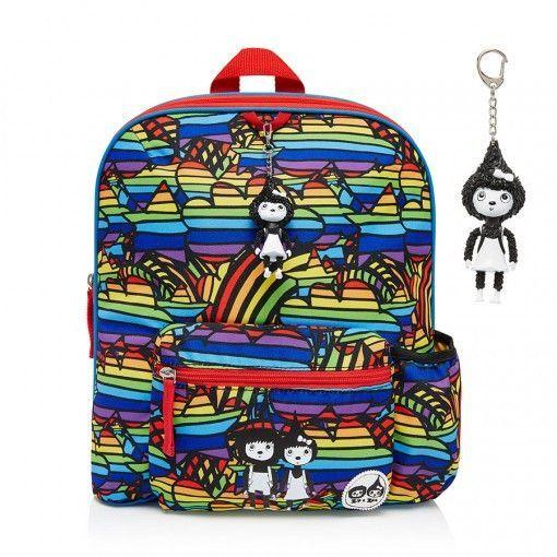 Zip & Zoe Backpack, Rainbow