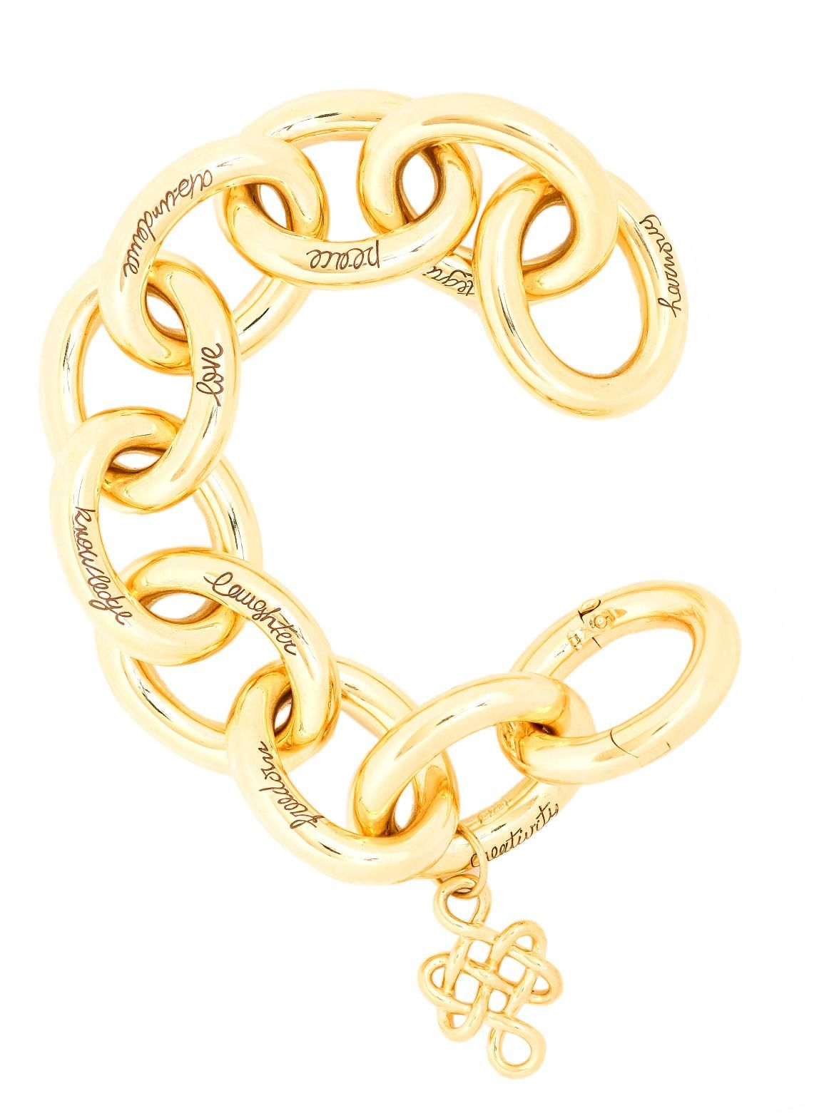H.Stern 18k Yellow Gold Diane von Furstenberg Sutra Link Bracelet with Large Oval Links at London Jewelers!