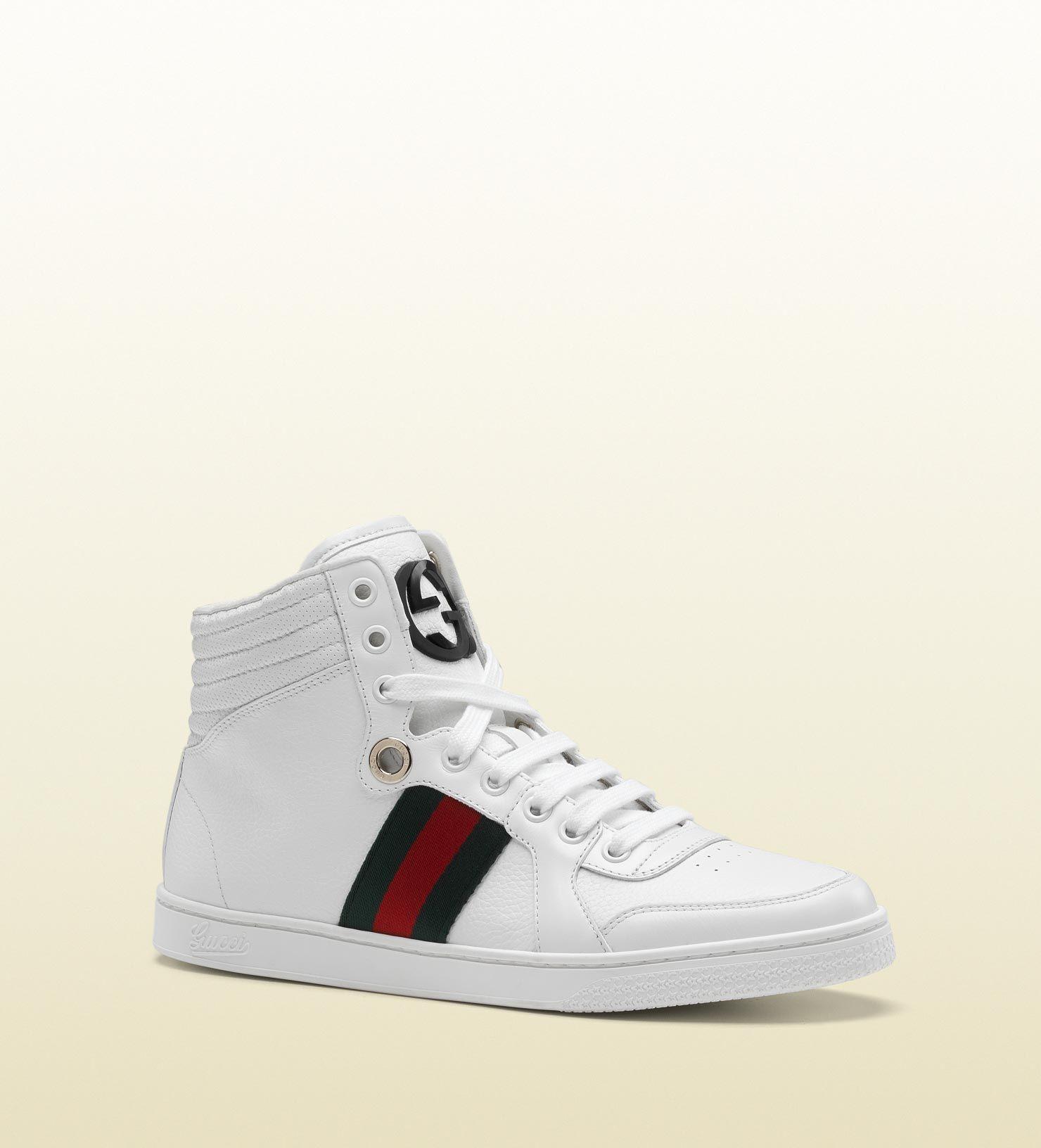 coda hi-top sneaker with interlocking G
