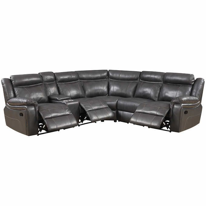 Remarkable Lindell 6 Piece Top Grain Leather Reclining Sectional Uwap Interior Chair Design Uwaporg