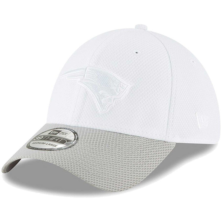 636cdcdc373 Men s New England Patriots New Era White Gray Tone Tech Redux 2 39THIRTY Flex  Hat