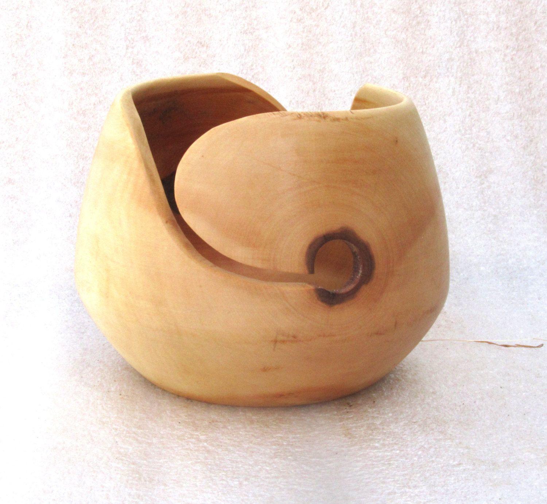 Garnschale Holz yarn bowl / garn schale, maple wood (ahorn holz), #2347, 17 x 13 cm