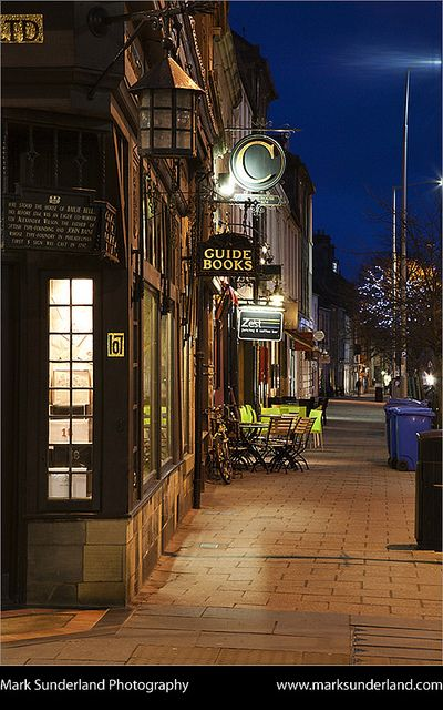South Street at Dusk St Andrews Fife Scotland. The DOMESTIC RABBIT! @Jess Pearl Pearl Evans @Nicole Novembrino Novembrino Boucher @Sarah Chintomby Chintomby McAdams