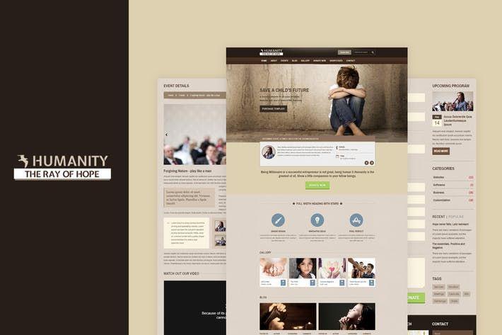 Humanity NGO \ Charity Responsive HTML Template by BuddhaThemes - ngo templates