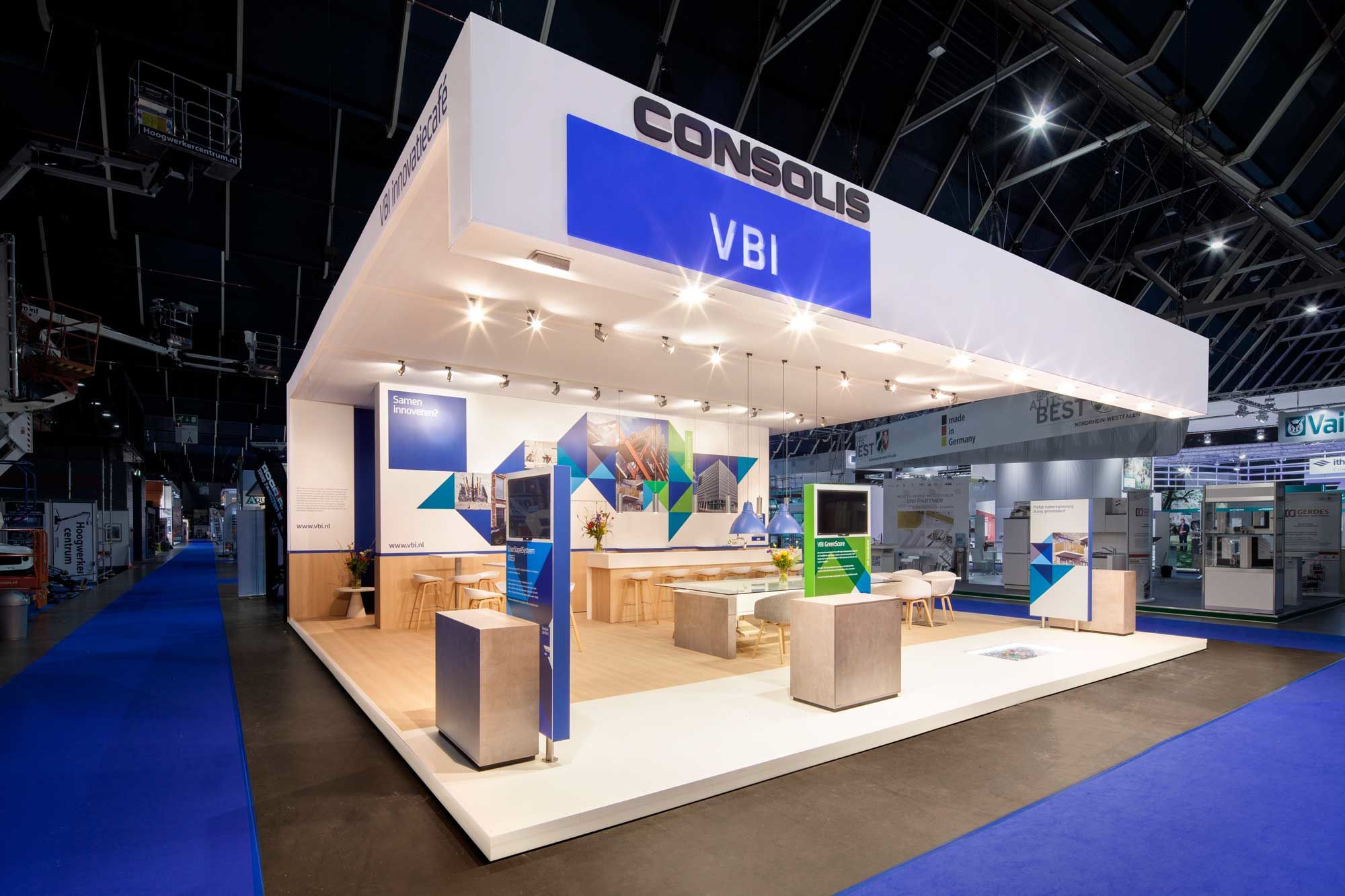 Exhibition Stand Builders Netherlands : Exhibition booth from the inside stand building at