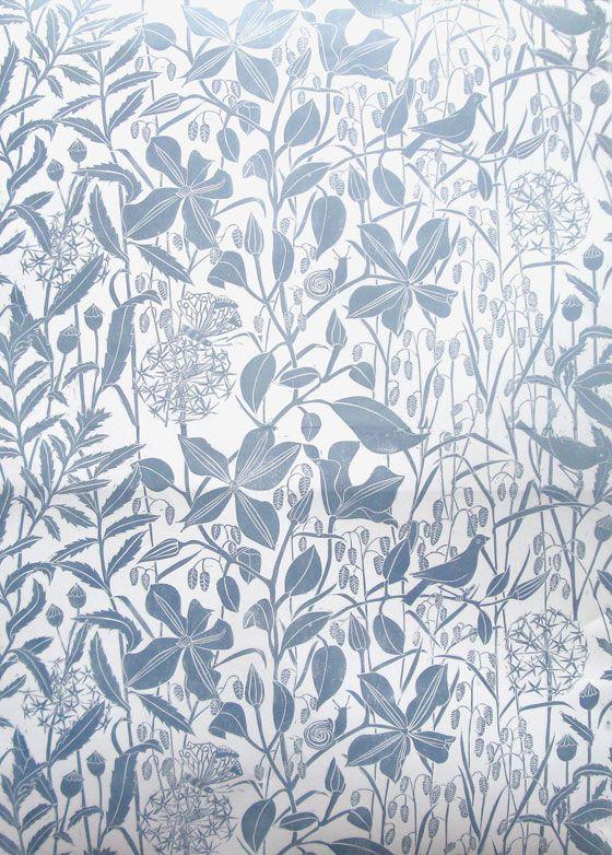 Marthe Armitage Hand Printed Wallpaper Clematis Madison
