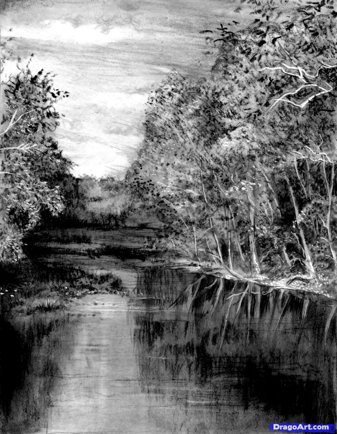 sketches of rivers - Google Search