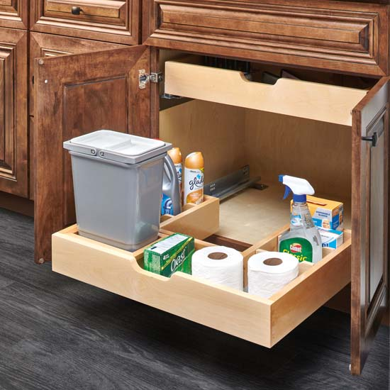 This Rev A Shelf U Shape Under Sink Pullout Organizer Includes 4