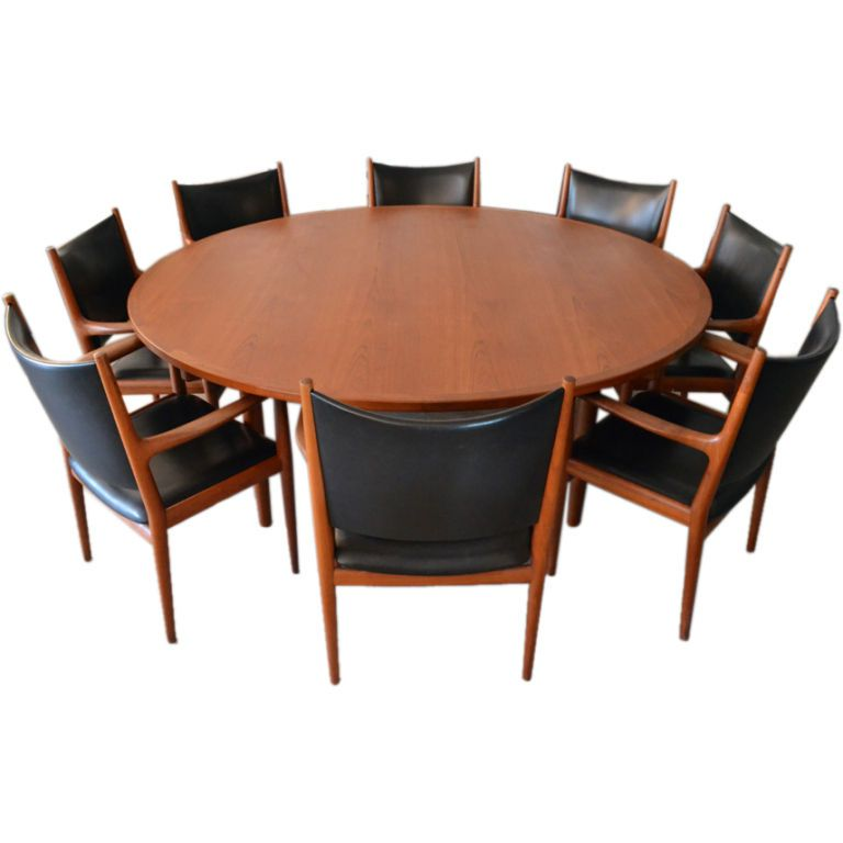 Hans Wegner Conference Table And Chairs Set For Johannes Hansen - Conference room table and chairs set