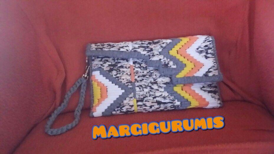 plastica malla y Bolso trapillo crochet con echo mano de wzppIxq7BX