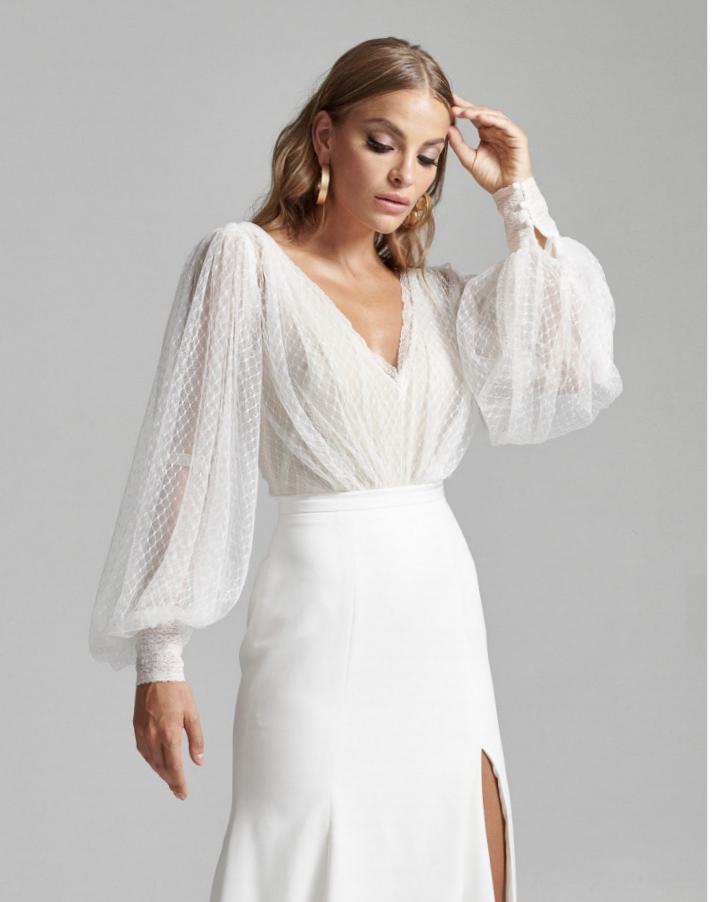 Modern Bishop Sleeve Wedding Dress Making A Wedding Dress A Line Wedding Dress Dresses