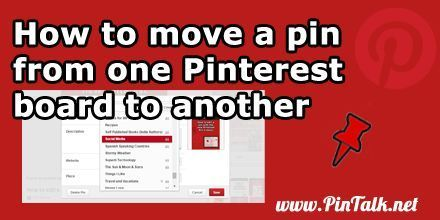How To Move Pinterest Pins From One Board To Another Pinterest