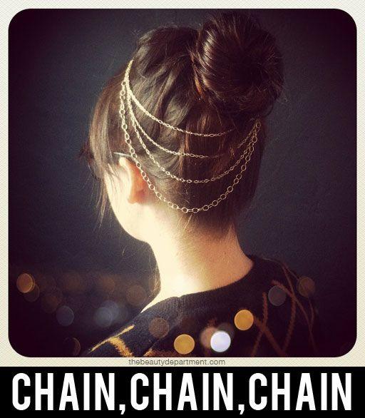 DIY hair necklace.